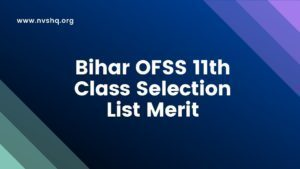 Bihar-OFSS-11th-Class-Admission-Selection-List-Merit