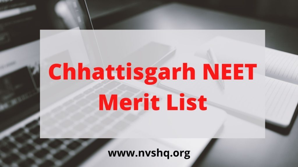 Chhattisgarh-NEET Merit-List-2020