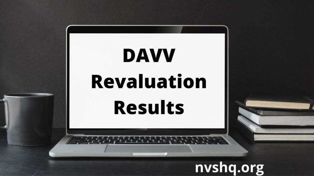 DAVV-Revaluation-Results-2020-released