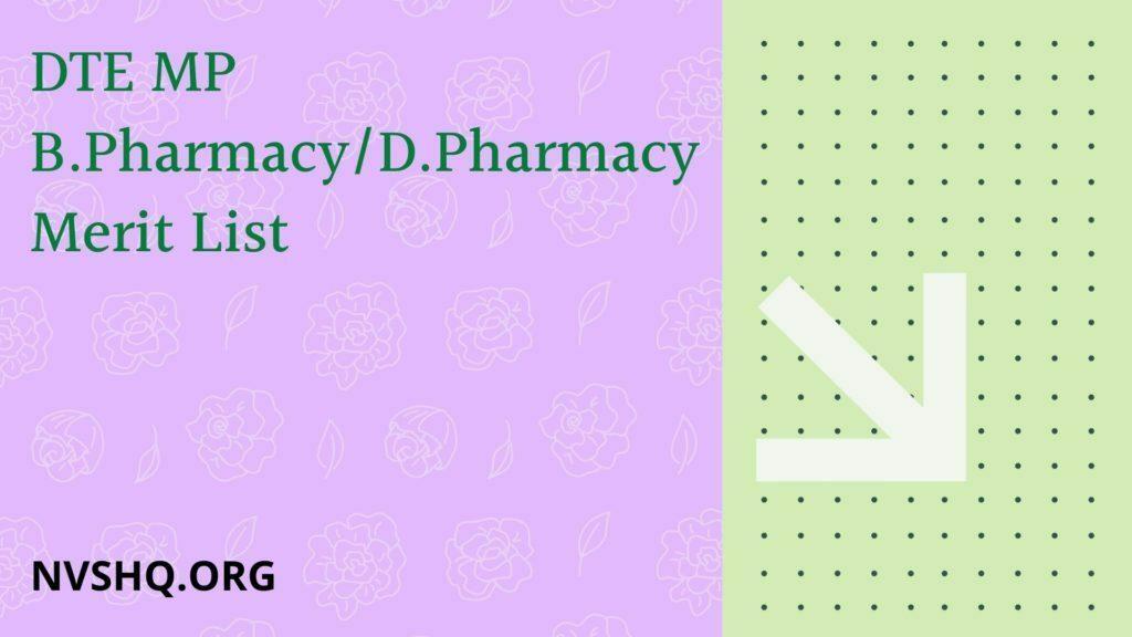 DTE-MP-B.Pharmacy_D.Pharmacy-Merit-List-2020