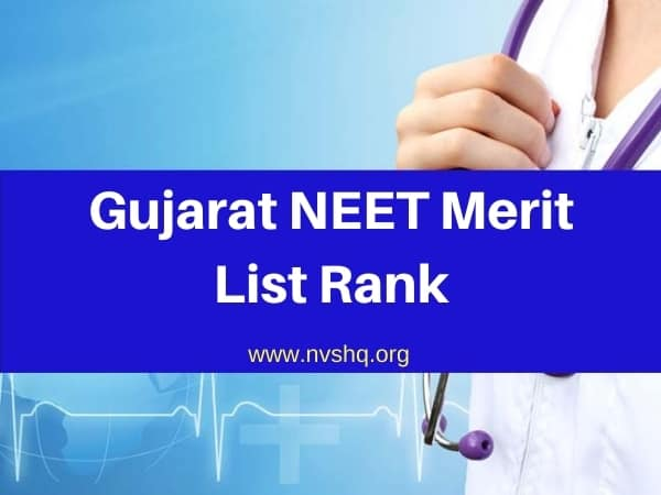 Gujarat NEET Merit List