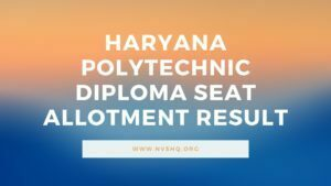 Haryana-Polytechnic-Diploma-Seat-Allotment-Result
