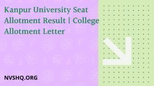Kanpur-University-Seat-Allotment-Result-2020-College-Allotment-Letter
