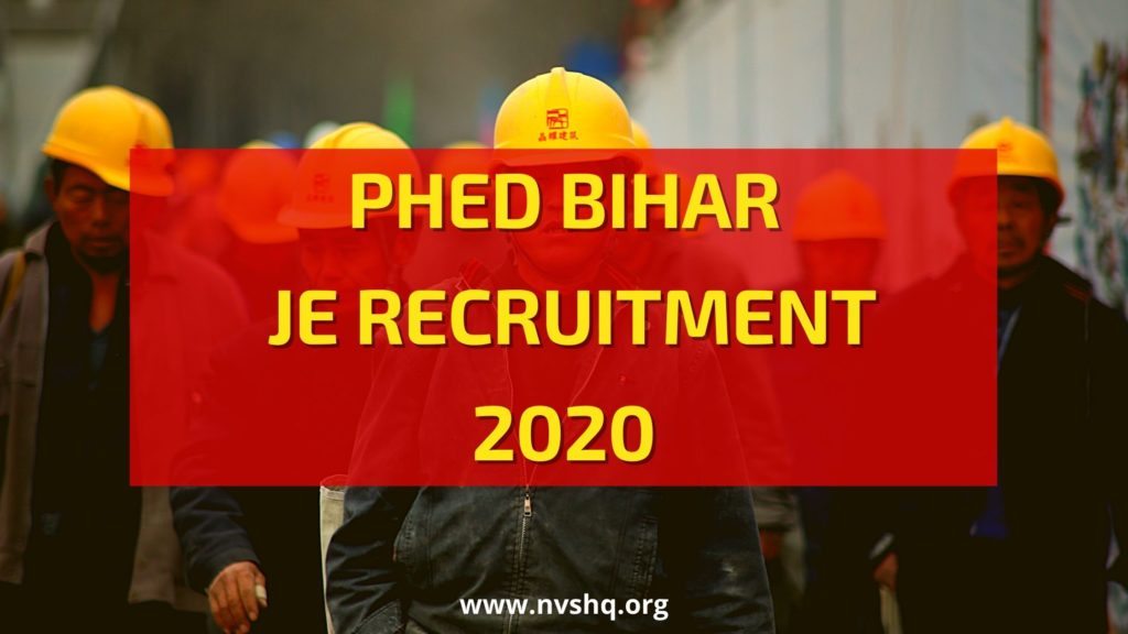 PHED-Bihar-JE-recruitment-2020
