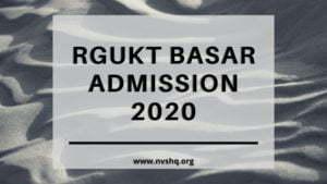 RGUKT_Basar_Admission_2020