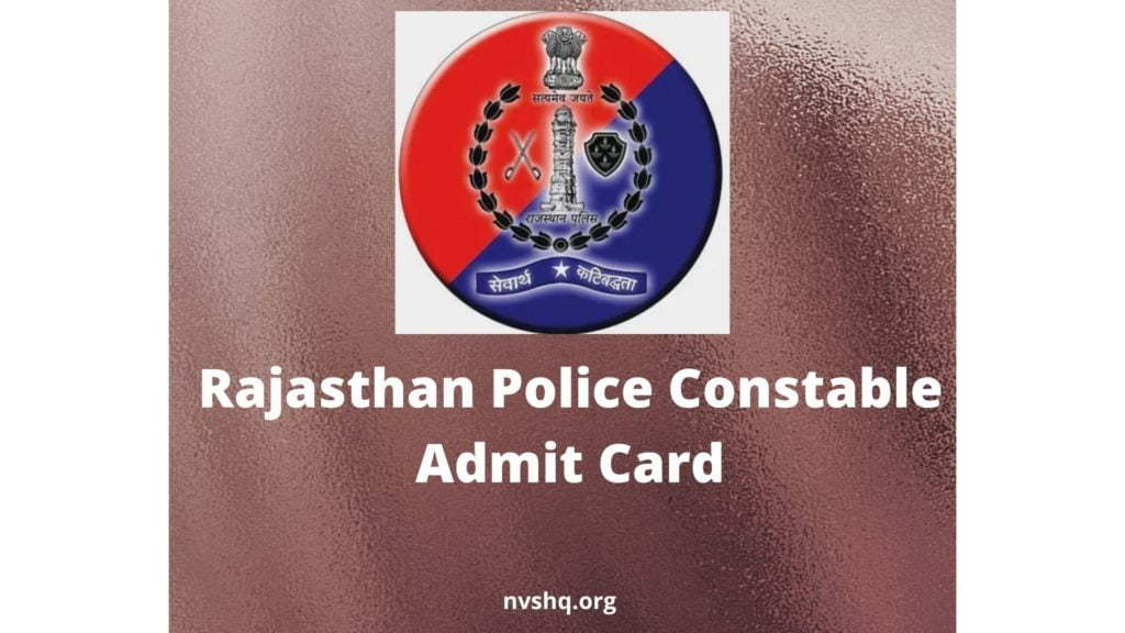 Rajasthan Police Constable Admit Card 2019-20