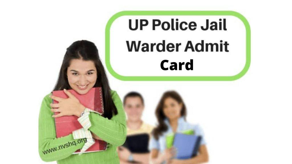 UP Police Jail Warder Admit Card 2020