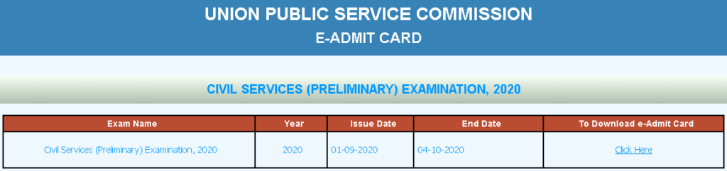 UPSC-IAS-2020-PRE-ADMIT-CARD