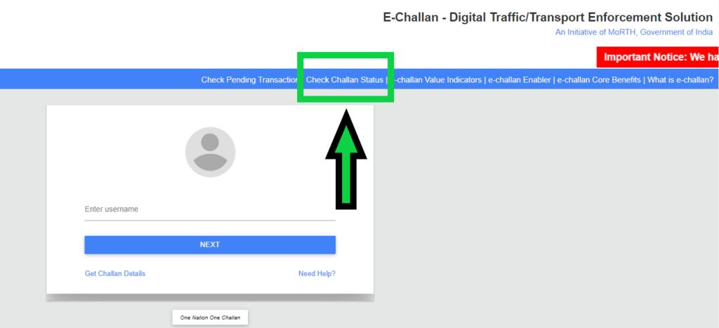 e-challan-status-check