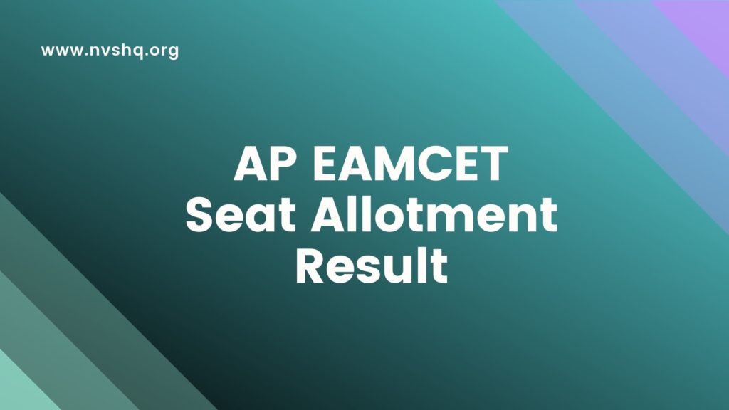 AP EAMCET 1st Round Seat Allotment Result