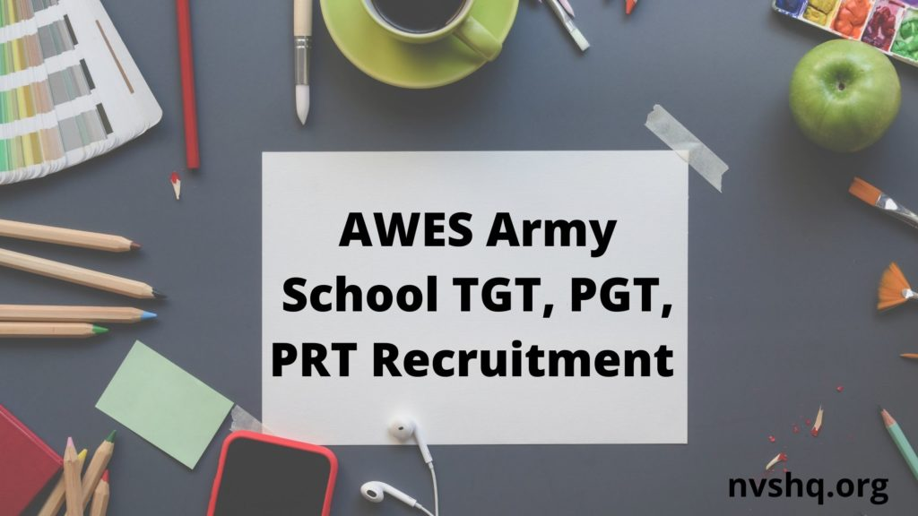 AWES-Army-School-TGT-PGT-PRT-Recruitment
