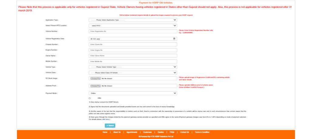 HSRP-Gujrat-Online