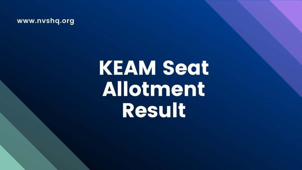 KEAM 2nd Seat Allotment Result
