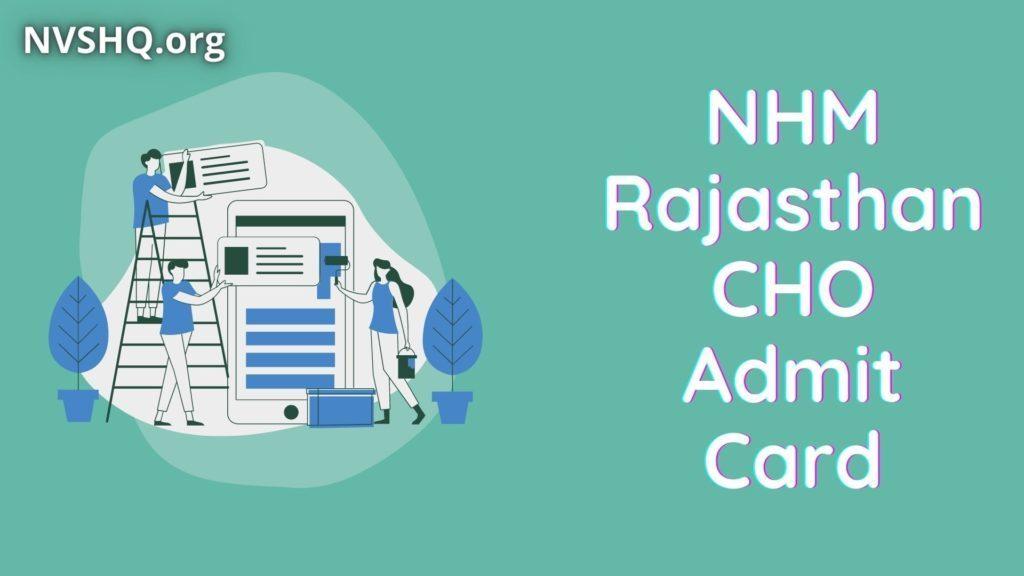 NHM_Rajasthan_CHO_Admit_Card