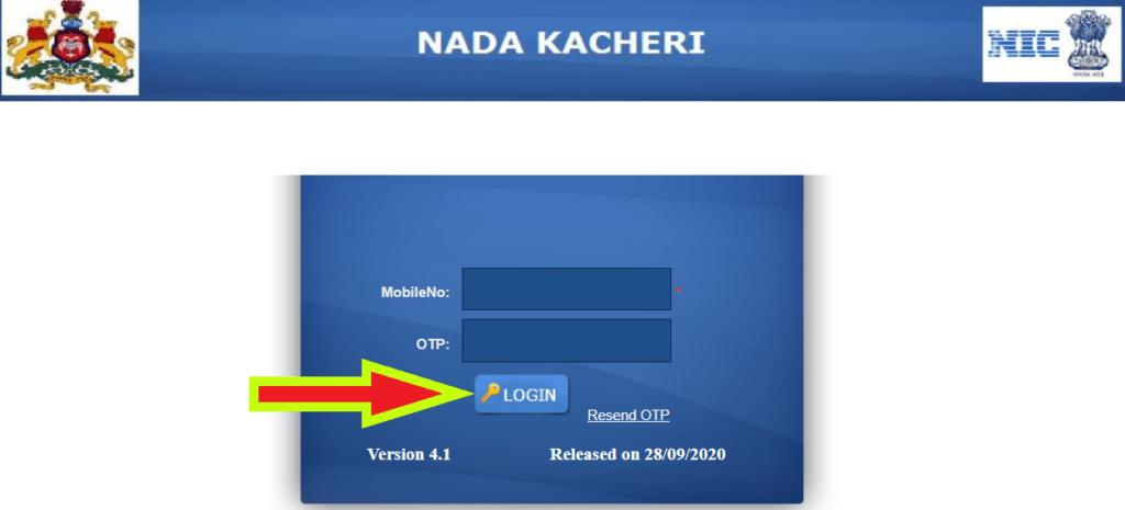 Nadakacheri-login-info