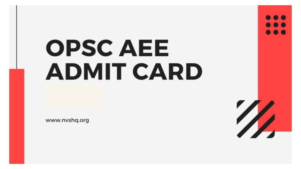 OPSC-AEE-Admit-Card-2020