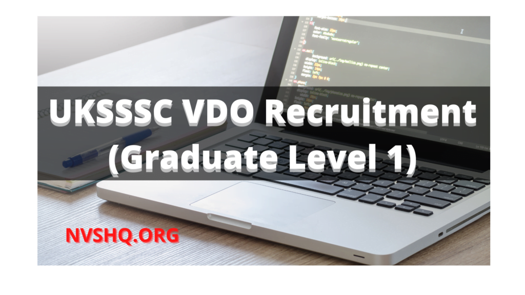 uksssc-vdo-recruitment