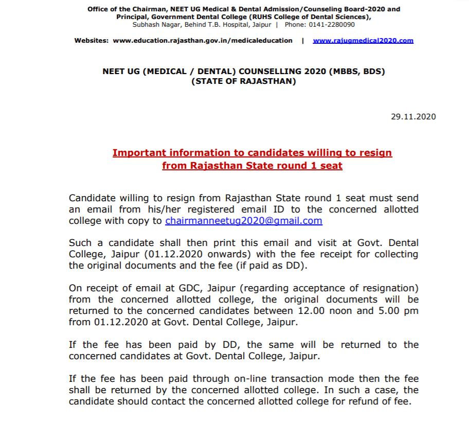 rajasthan-neet-resign-notice