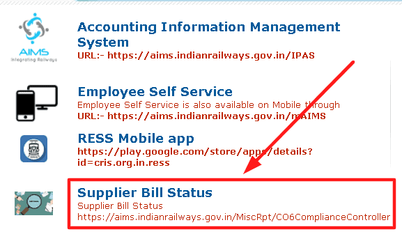 AIMS-portal-supplier-bill