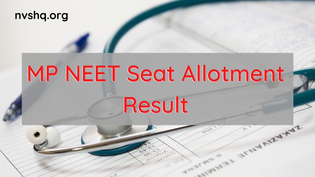 MP-NEET-Seat-Allotment-Result-2020