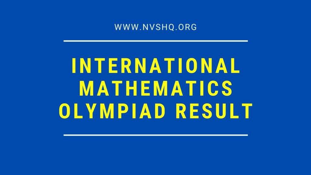 SOF IMO Result International Mathematics Olympiad Result