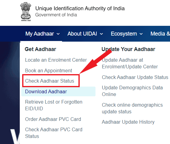 Aadhaar-status