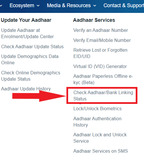 Bank-aadhar-status-check