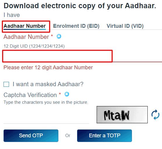 Download-e-aadhaar