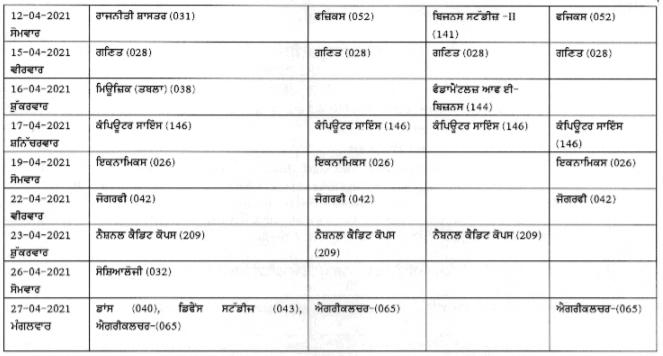 PSEB-Class-12th-datesheet-2021
