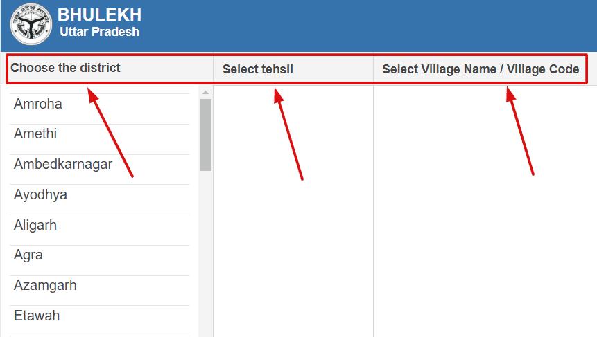 Select-village-code-details