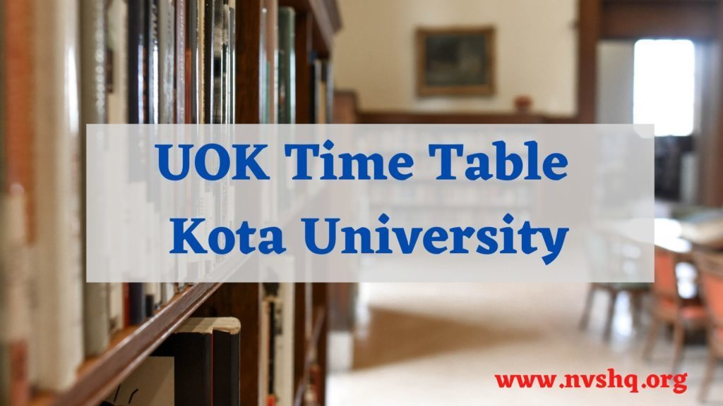 UOK-Time-Table-2021