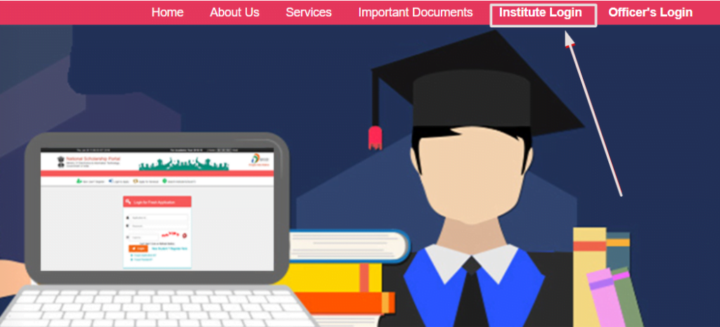 National-Scholarship-Portal-institute-login-option