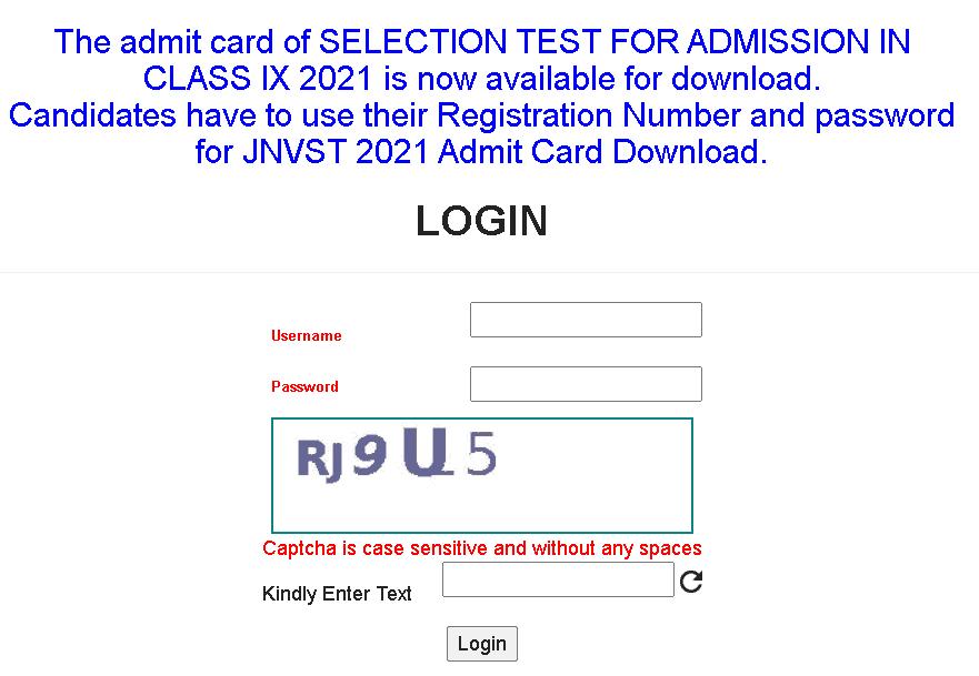 jnvst-class-9th-admit-card-download