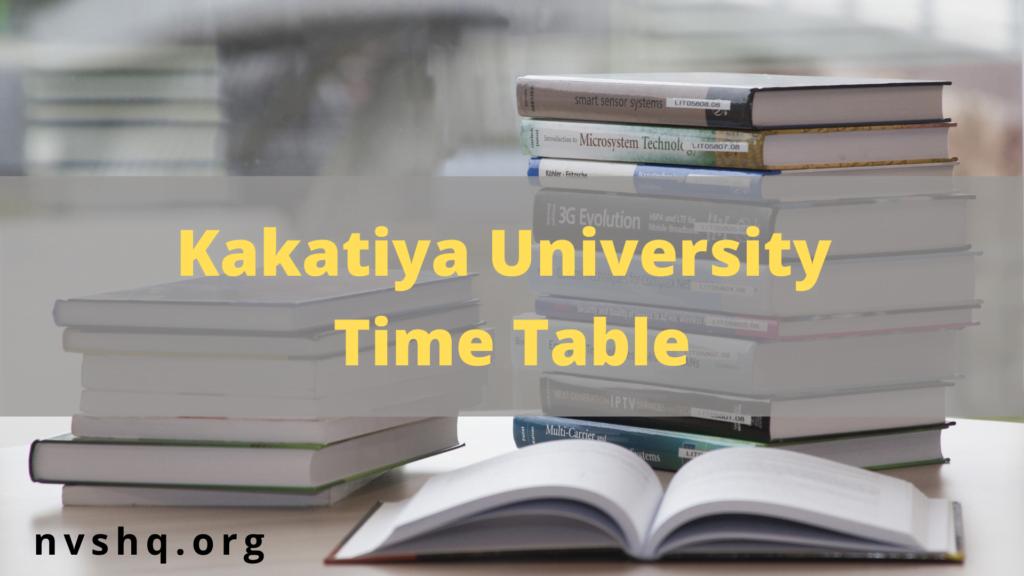 kakatiya-university-time-table-2021