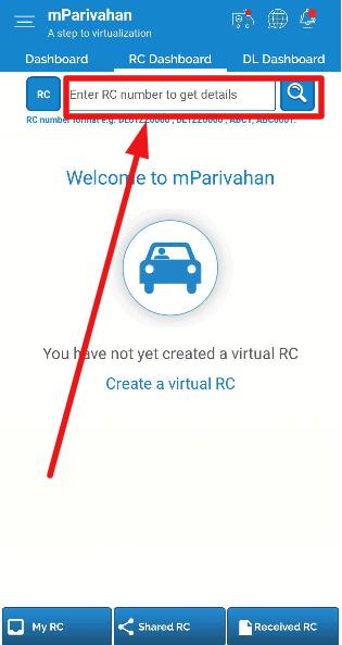 mparivahan-rc-number