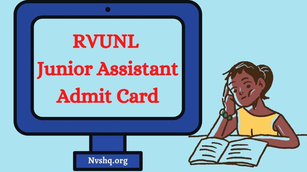 RVUNL-Junior-Assistant-Admit-card-2021