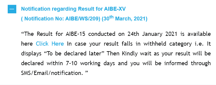 aibe-15-result