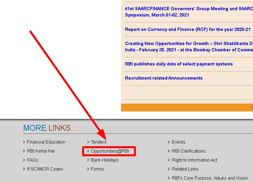 RBI Office Attendant result online 2021